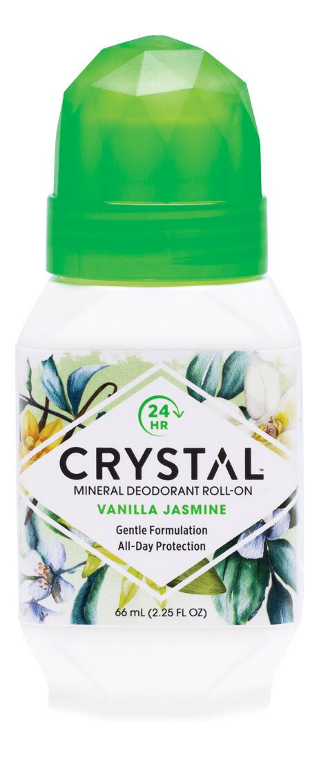 CRYSTAL ESSENCE Roll-On Deodorant Vanilla Jasmine 66ml