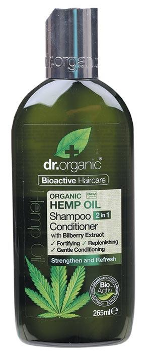 DR ORGANIC Shampoo Conditioner 2 in 1 Organic Hemp Oil 265ml