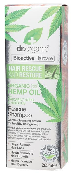 DR ORGANIC Rescue & Restore Shampoo Organic Hemp Oil 265ml