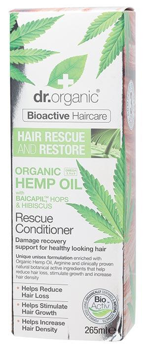 DR ORGANIC Rescue & Restore Conditioner Organic Hemp Oil 265ml