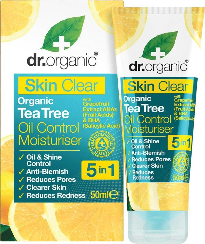 DR ORGANIC Oil Control Moisturiser Skin Clear - Organic Tea Tree 50ml