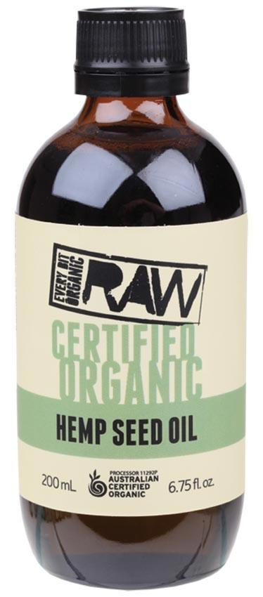 EVERY BIT ORGANIC RAW Hemp Seed Oil 200ml