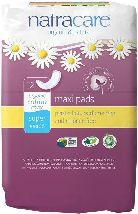 NATRACARE Maxi Pads Super 12