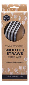 EVER ECO Stainless Steel Straws- Bent Smoothie Straws (Extra Wide) 4