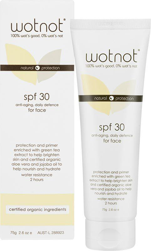 WOTNOT Face Sunscreen SPF 30+ Anti-Aging 75g
