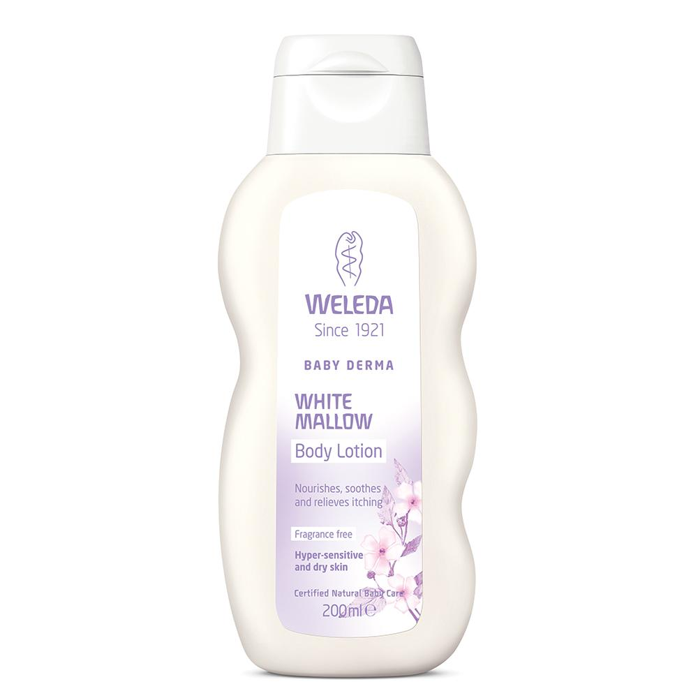 WELEDA Baby Derma White Mallow Body Lotion Fragrance Free 200ml