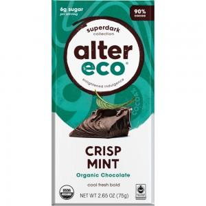 ALTER ECO Chocolate (Organic) Dark Crisp Mint 75g