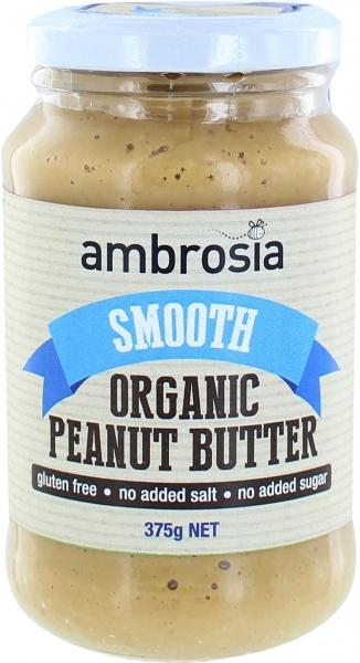Ambrosia Organic Smooth Peanut Butter G/F 375g