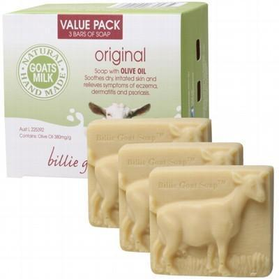 BILLIE GOAT Soap - Plain Goat's Milk - Value Pack 3x100g