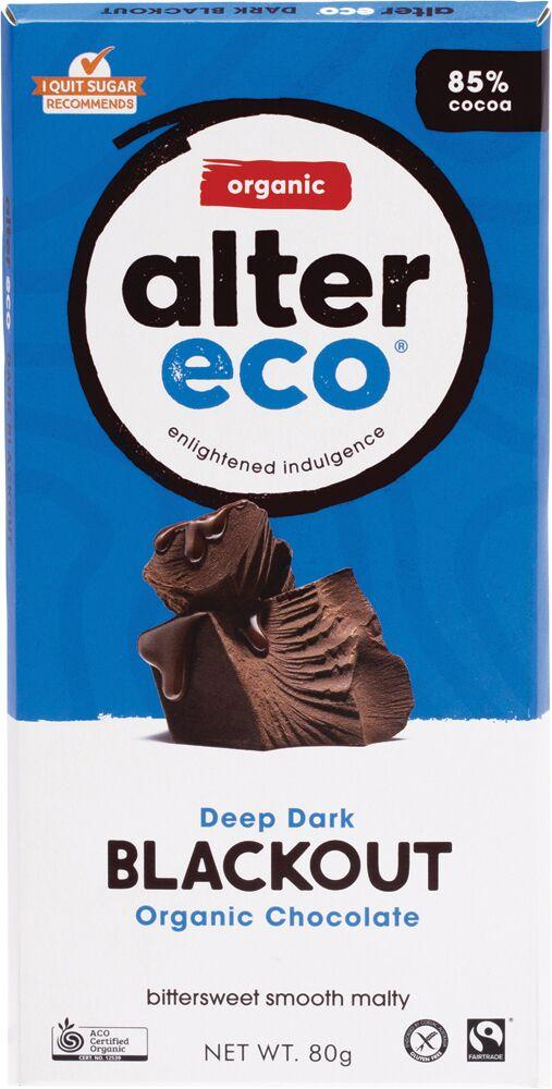 ALTER ECO Chocolate (Organic) Dark Blackout 80g