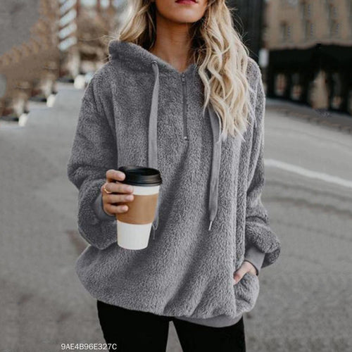 Hooded Polyester  Casual   Plain Hoodies