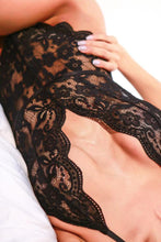 Load image into Gallery viewer, Spaghetti Strap  See Through  Lace Plain Teddy