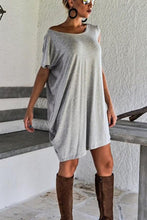Load image into Gallery viewer, Round Neck  Plain  Short Sleeve Casual Dresses