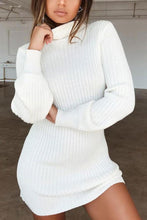 Load image into Gallery viewer, Fashion Sexy Plain Long Sleeve Sweater Dresses