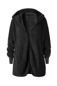 Hooded  Polyester  Plain  Basic  Outerwear