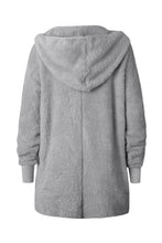 Load image into Gallery viewer, Hooded  Polyester  Plain  Basic  Outerwear