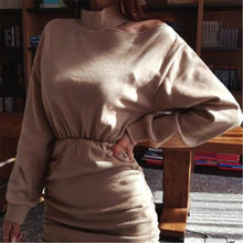 Load image into Gallery viewer, Sexy Long Sleeve Solid Color Dress