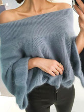 Load image into Gallery viewer, Fashion Pure Colour   Off-Shoulder Sweater