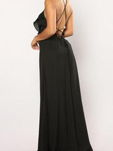 Load image into Gallery viewer, Sexy Sleeveless Slit Fishtail Evening Maxi Dress