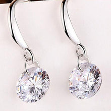 Load image into Gallery viewer, Pair Of Alloy Rhinestone Drop Earrings