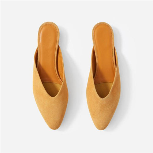 Ladies Fashion Casual Mules Flat Slippers