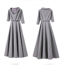 Load image into Gallery viewer, Fashion Irregular Collar Sexy Long Evening Dress