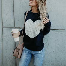 Load image into Gallery viewer, Round Neck Sweater Love Fashion Sweater