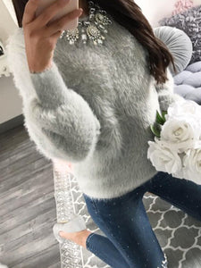 Long Sleeve Sexy Fuzzy Sweater