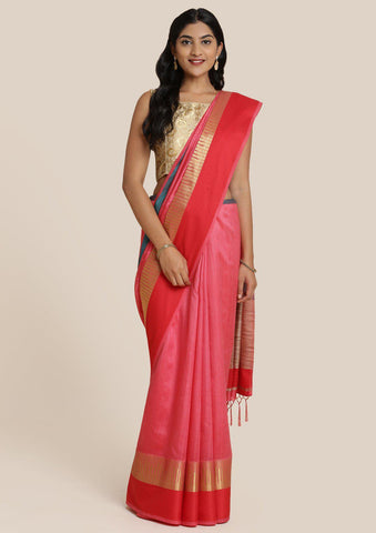 Multi Zariwork Art Silk Designer Saree