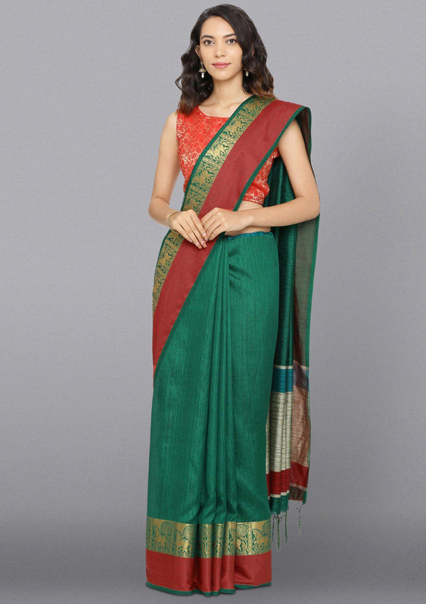 Multi  Color Zariwork Art Silk Designer Saree