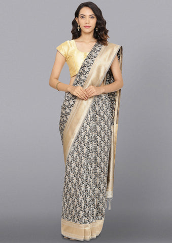 Black Zariwork Brocade Designer Saree