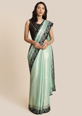 Sea Green Swarovski Shimmer Designer Saree