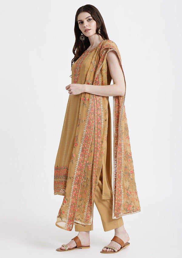 Gold Thread Work Georgette Designer Salwar Suit