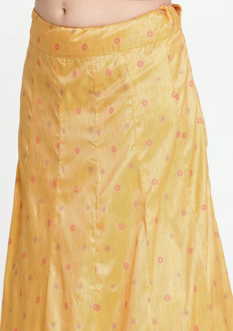 Orange and Candy Pink Stonework Art Silk Designer Lehenga-Koskii