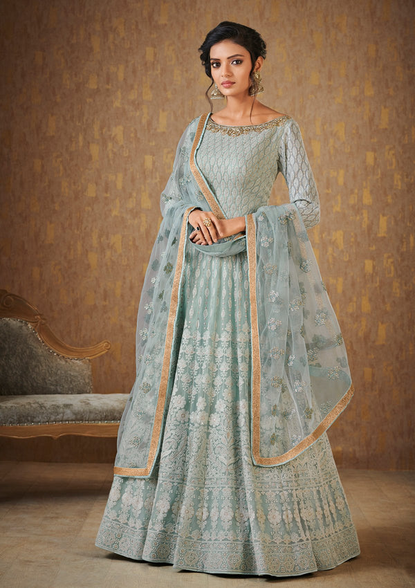 Koskii Teal Green Gown