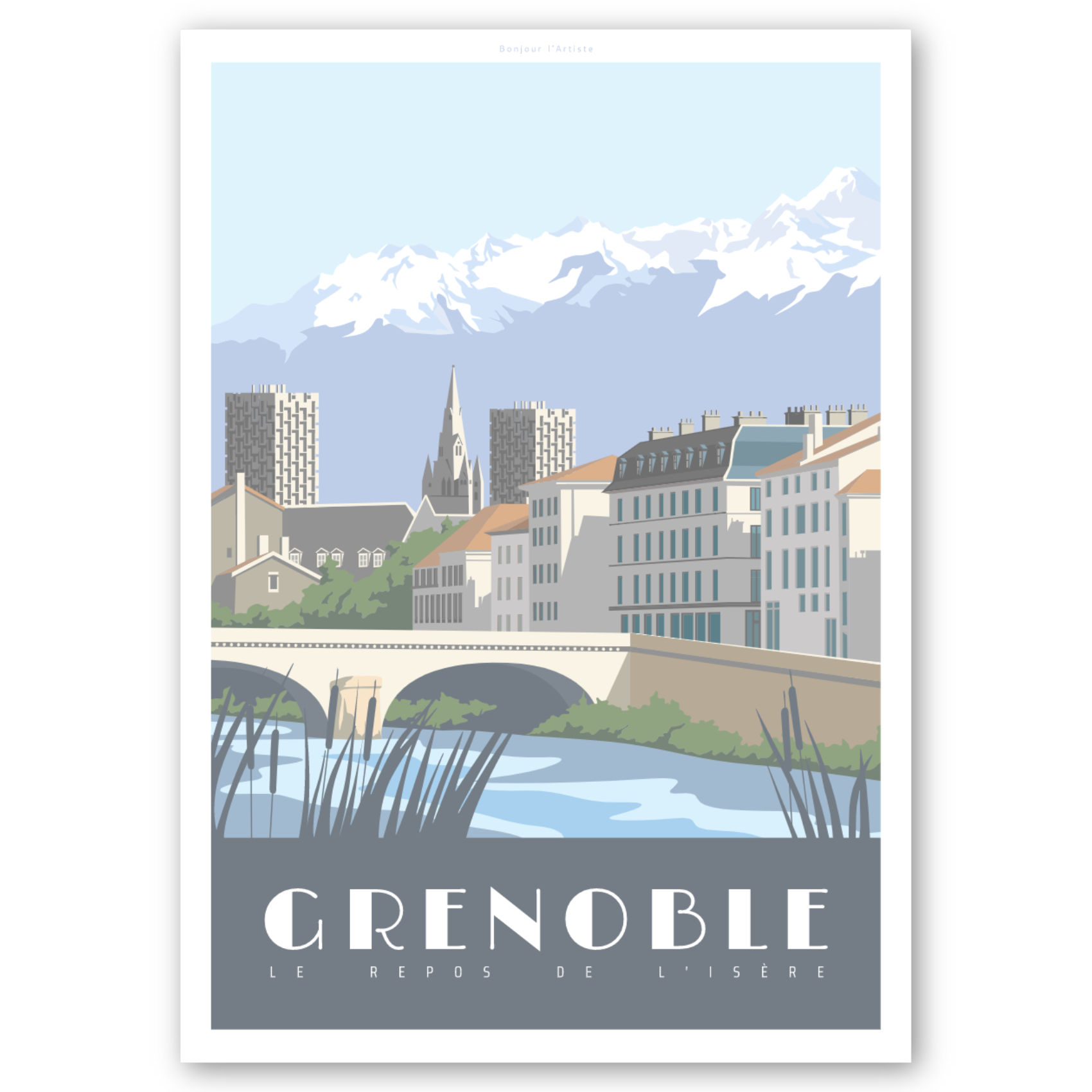 Affiche d'Art - Grenoble