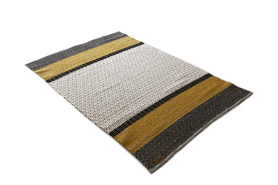 Alfombra Algodon y Corcho | Grey and Yellow 160 x 240 - monoccino