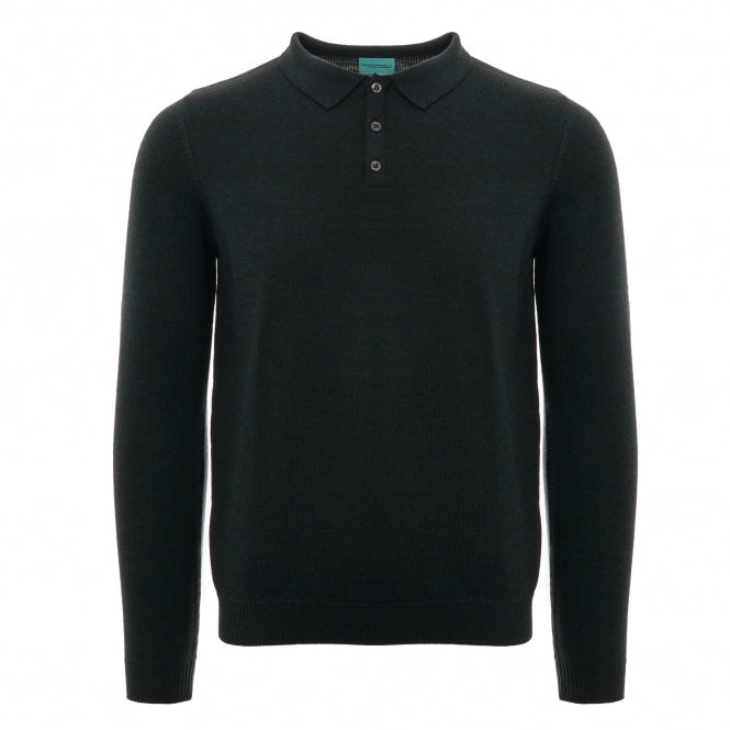 c696bf981 None Of The Above Long Sleeve Knitted Polo Shirt