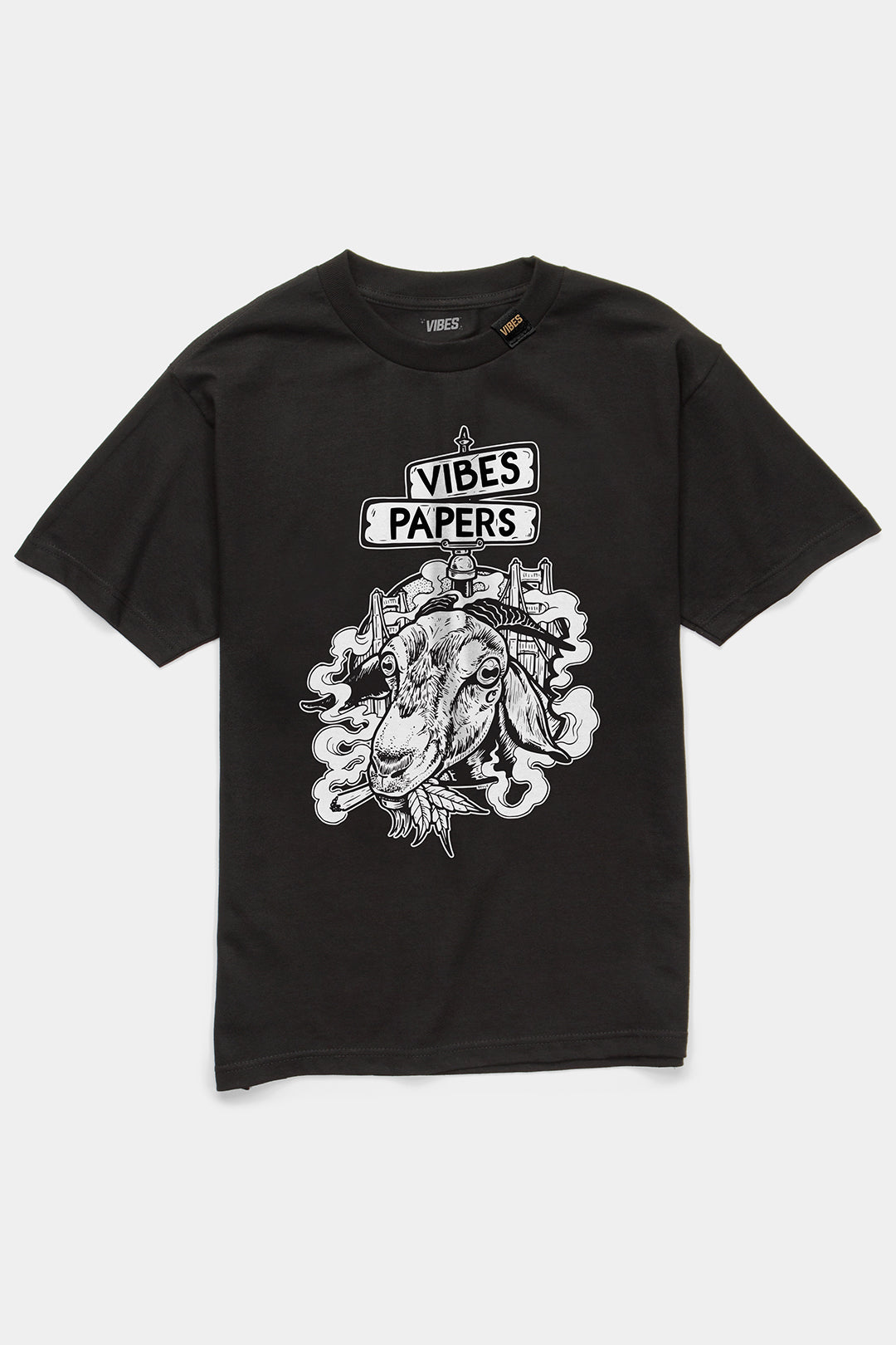 VIBES Goat Collection Black T Shirt