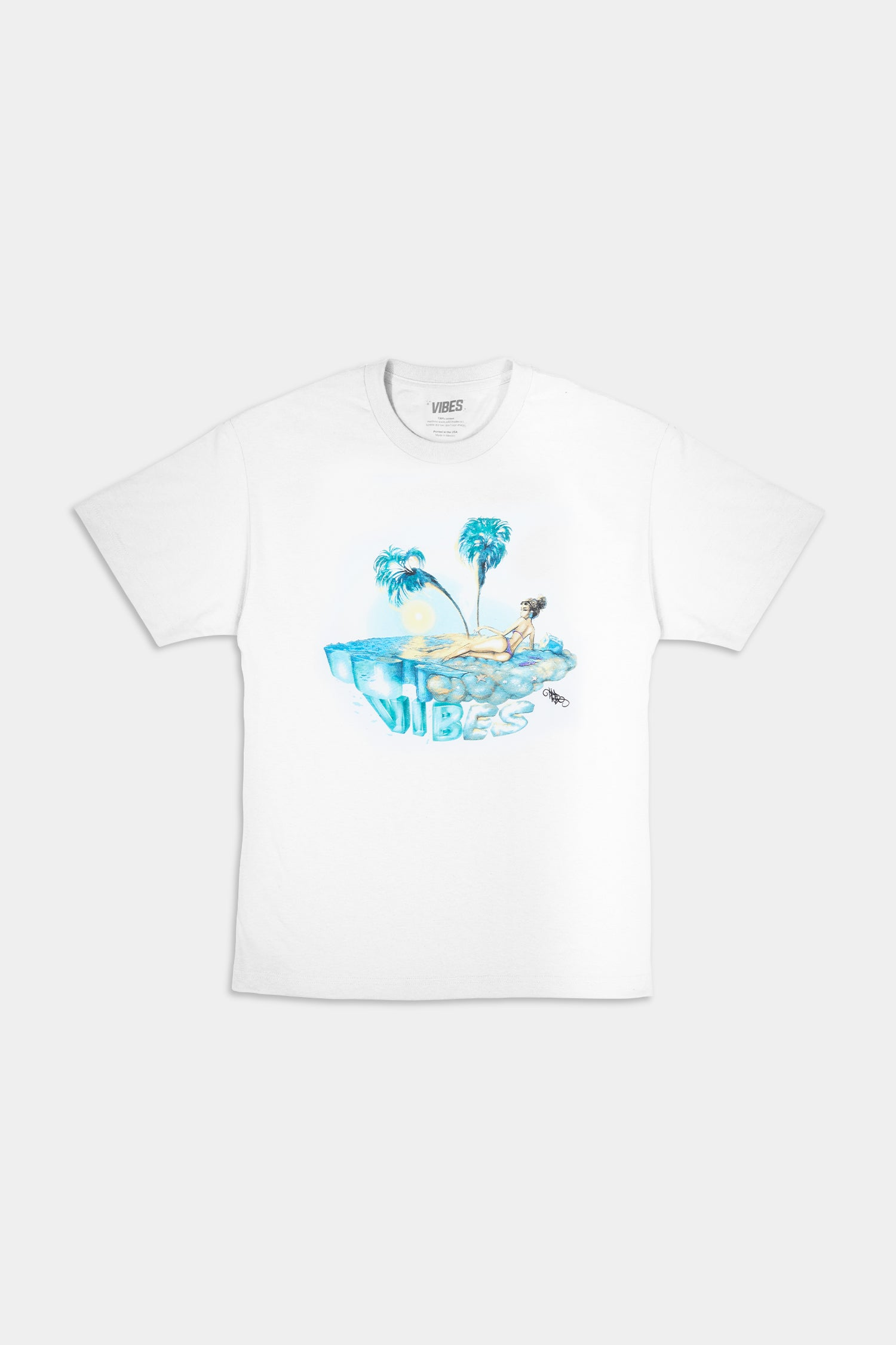 VIBES Private Island Collection White T-Shirt