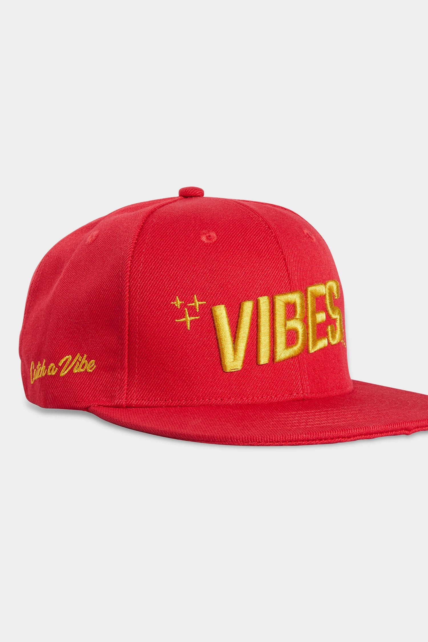 Vibes Snapback Hat Red
