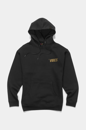 VIBES Cheetah Collection Black Hoodie