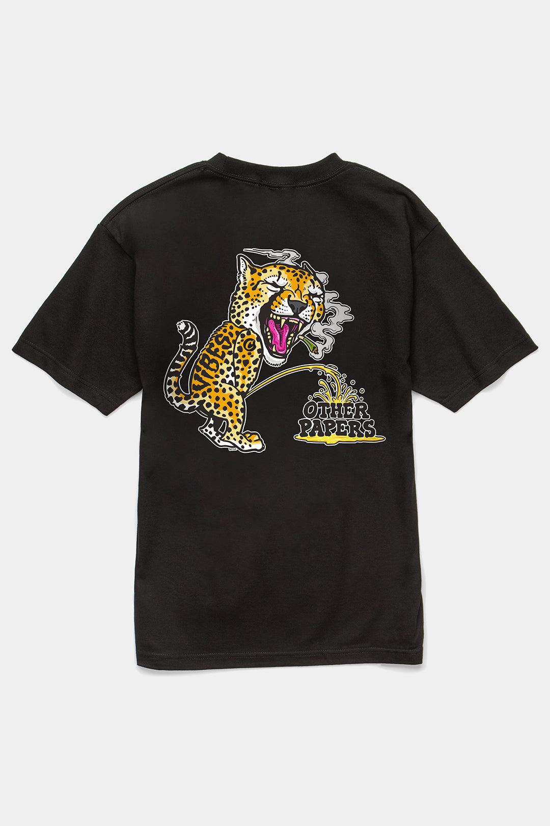 VIBES Cheetah Collection Black T-Shirt
