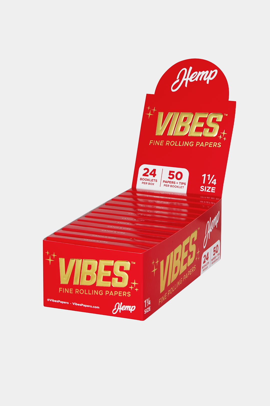 "Vibes Papers Box - 1.25"" with Tips"
