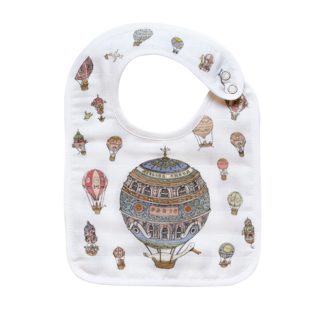 Atelier Choux Small Bib Hot Air Balloons