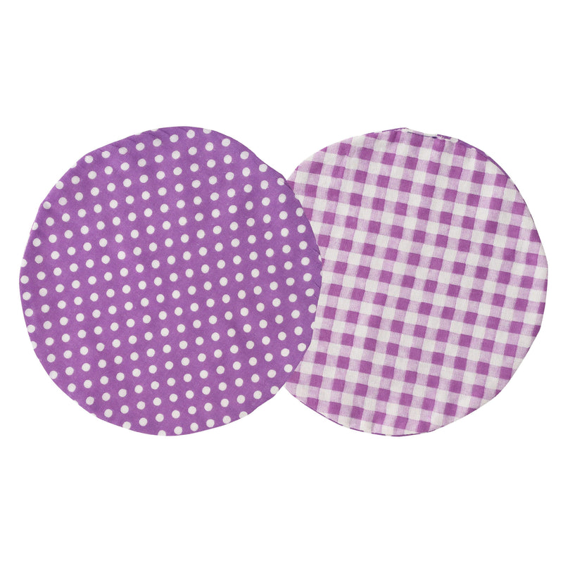 Bétta Bouquet Bib (Purple Dots x Purple Checks)