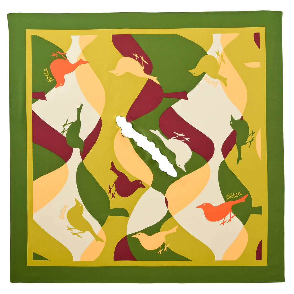 Bétta Nursing Scarf Modern Bird (Green)