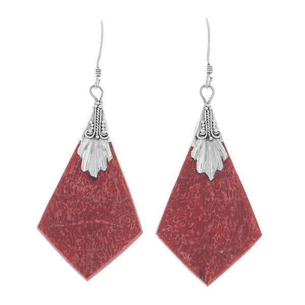 925 Sterling Silver Natural Red Agate 1.9