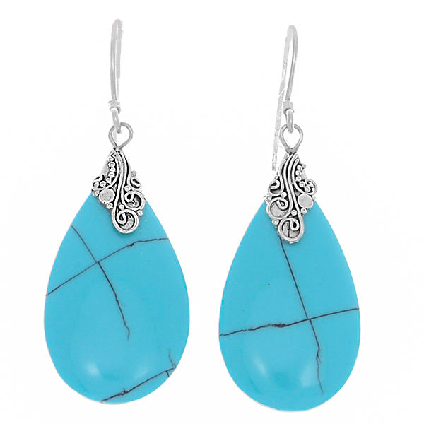 925 Sterling Silver Natural Turquoise Agate 1.9