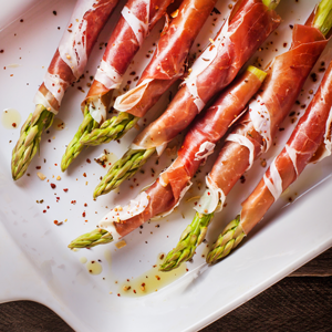 Keto Recipes | Prosciutto Wrapped Asparagus